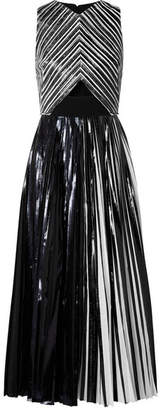 Proenza Schouler Pleated Coated-cloqué Gown - Black