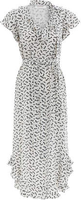 Zimmermann Flounce Neck Midi Dress