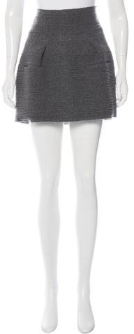 Balenciaga  Balenciaga Wool Mini Skirt