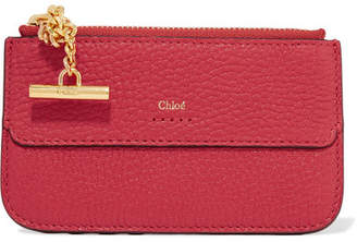 Chloé Drew Textured-leather Cardholder - one size