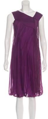 Alberta Ferretti Sleeveless Midi Dress Purple Sleeveless Midi Dress