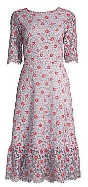 Draper James Women's Collection Floral Lace Midi Dress