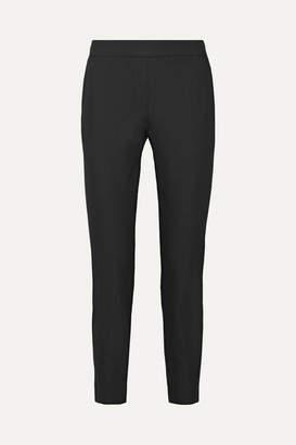 Theory Thaniel Cropped Stretch Cotton-blend Twill Slim-leg Pants