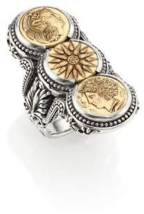 Konstantino Kerma Bronze & Sterling Silver Three-Coin Ring
