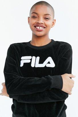 FILA + UO Lizzy Velour Pullover Sweatshirt $88 thestylecure.com