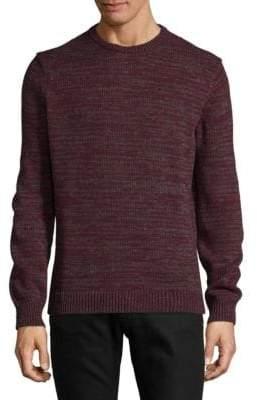 Halston H Marled Crew Neck Sweater