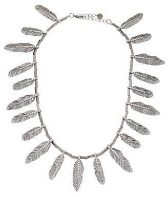 House Of Harlow Crystal Feather Necklace