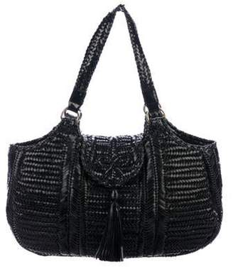 Anya Hindmarch Neeson Woven Patent Leather Tote Black Neeson Woven Patent Leather Tote