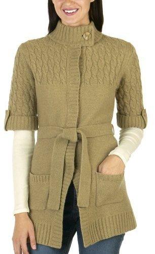 Merona Chunky Wrap Sweater - Heather Camel