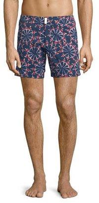 Vilebrequin Merise Swimmers-Print Swim Trunks, Navy $280 thestylecure.com