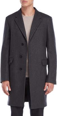 Jil Sander Charcoal Hidden Button Coat