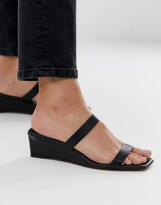 And other stories & squared heeled sandals in black