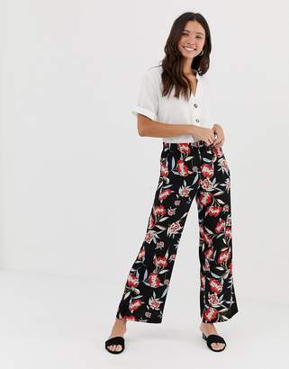 JDY Trick floral print wide leg pants