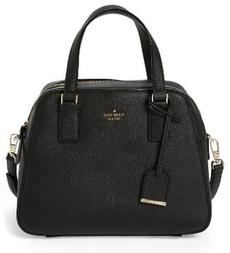 Kate Spade New York Cameron Street - Little Babe Leather Satchel - Black $298 thestylecure.com