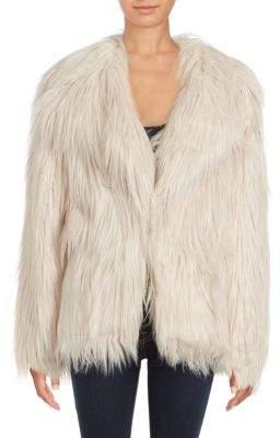Solid Faux Fur Coat