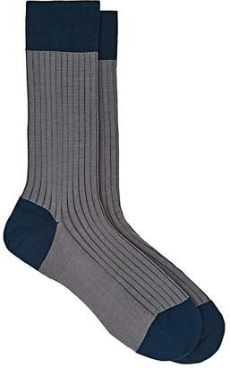 Barneys New York MEN'S RIB-KNIT COTTON-BLEND SOCKS