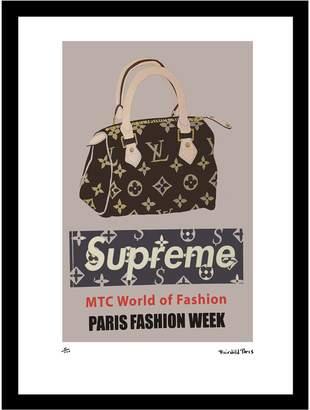 Fashion Flash Supreme Speedy Vintage Louis Vuitton ad by Fairchild Paris (Framed)