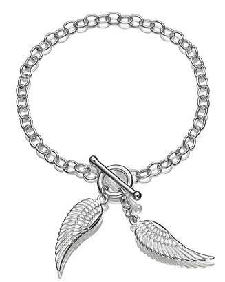 Fashion World Sterling Silver Angel Wings Bracelet