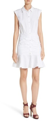 Women's Veronica Beard Bell Ruched Shirtdress $450 thestylecure.com