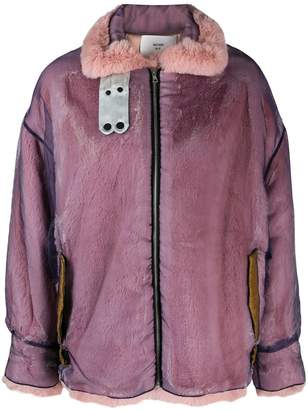 Quetsche zipped oversized jacket
