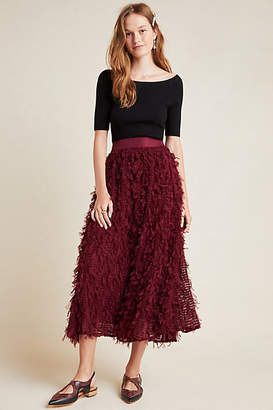 Seen Worn Kept Rhapsody Textured Maxi Skirt