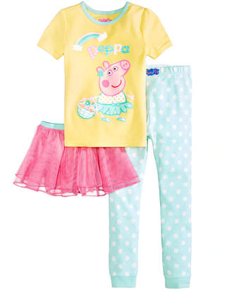 Peppa Pig Nickelodeon's 3-Pc. Tutu Pajama Set, Toddler Girls