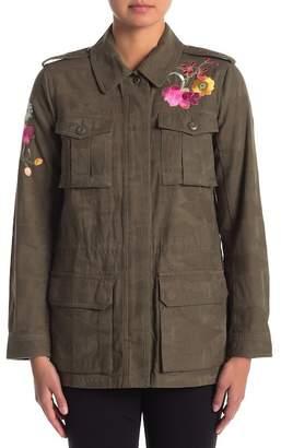 Trina Turk Micki Floral Embroidered Jacket