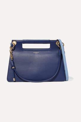 Givenchy Whip Medium Two-tone Leather Shoulder Bag - Royal blue
