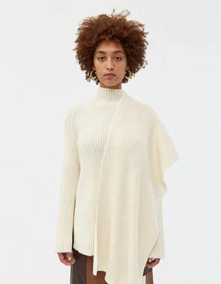Mijeong Park Rib Knit Sweater with Scarf