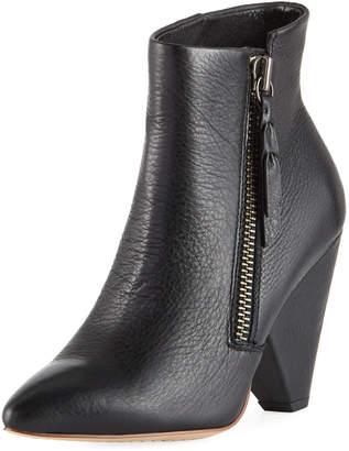 Splendid Neva Leather Cone-Heel Ankle Boots
