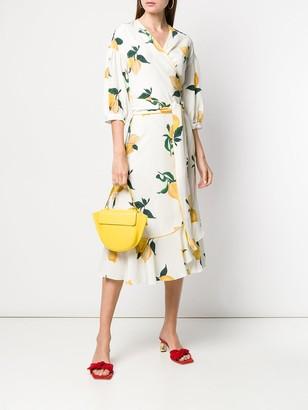 Parker Chinti & lemon wrap dress