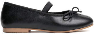 H&M Leather Ballet Flats - Black