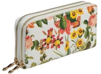 Nicci Floral Double Zipper Around Organizer Wallet Floral