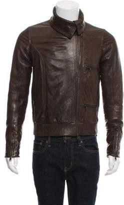 Hussein Chalayan Asymmetrical Zip Leather Jacket