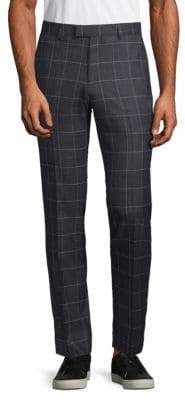 Extra Slim Fit Windowpane Trousers