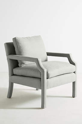 Anthropologie Belgian Linen Delaney Chair