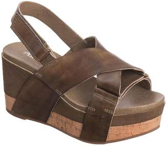 Antelope Women's 888 Leather Cross Belt Wedge 36