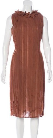 Bottega Veneta Bottega Veneta Pleated Midi Dress w/ Tags