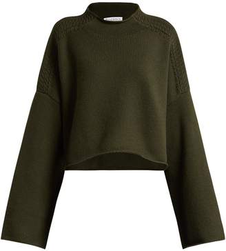 J.W.Anderson Wool and cashmere-blend cropped sweater
