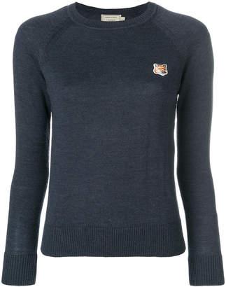 MAISON KITSUNÉ embroidered logo slim-fit sweater