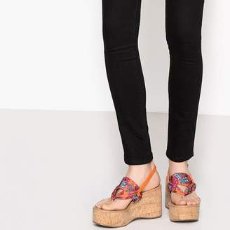 fbdfecc326e508 La Redoute COLLECTIONS Wedge Sandals with Japanese Print