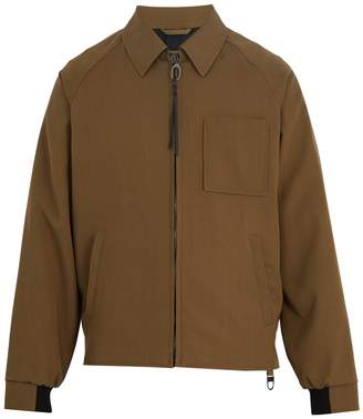 Lanvin Point-collar zip-through wool jacket