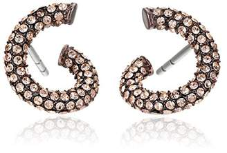 Michael Kors Sable IP and Light Peach Pave Twist Earrings