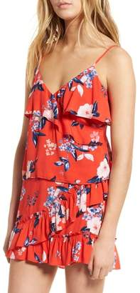 Cupcakes And Cashmere Berkely Floral Ruffle Tank