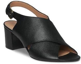Whistles Women's Alexis Leather Crisscross Slingback Sandals
