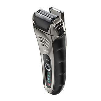 Wahl Smart Shave Rechargeable lithium ion wet / dry water proof foil shaver for men. Smartshave technology for shaving