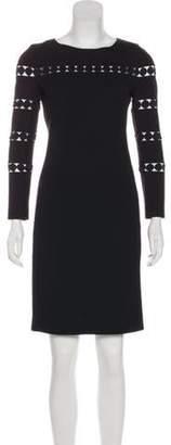 Akris Punto Long Sleeve Wool Dress Black Long Sleeve Wool Dress