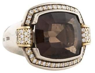 Lagos Smoky Quartz & Diamond Ring