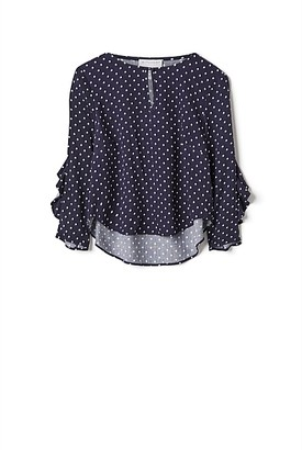 Witchery Spot Frill Back Blouse