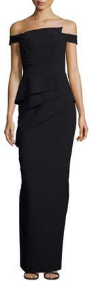 Black Halo La Reina Off-the-Shoulder Gown $690 thestylecure.com
